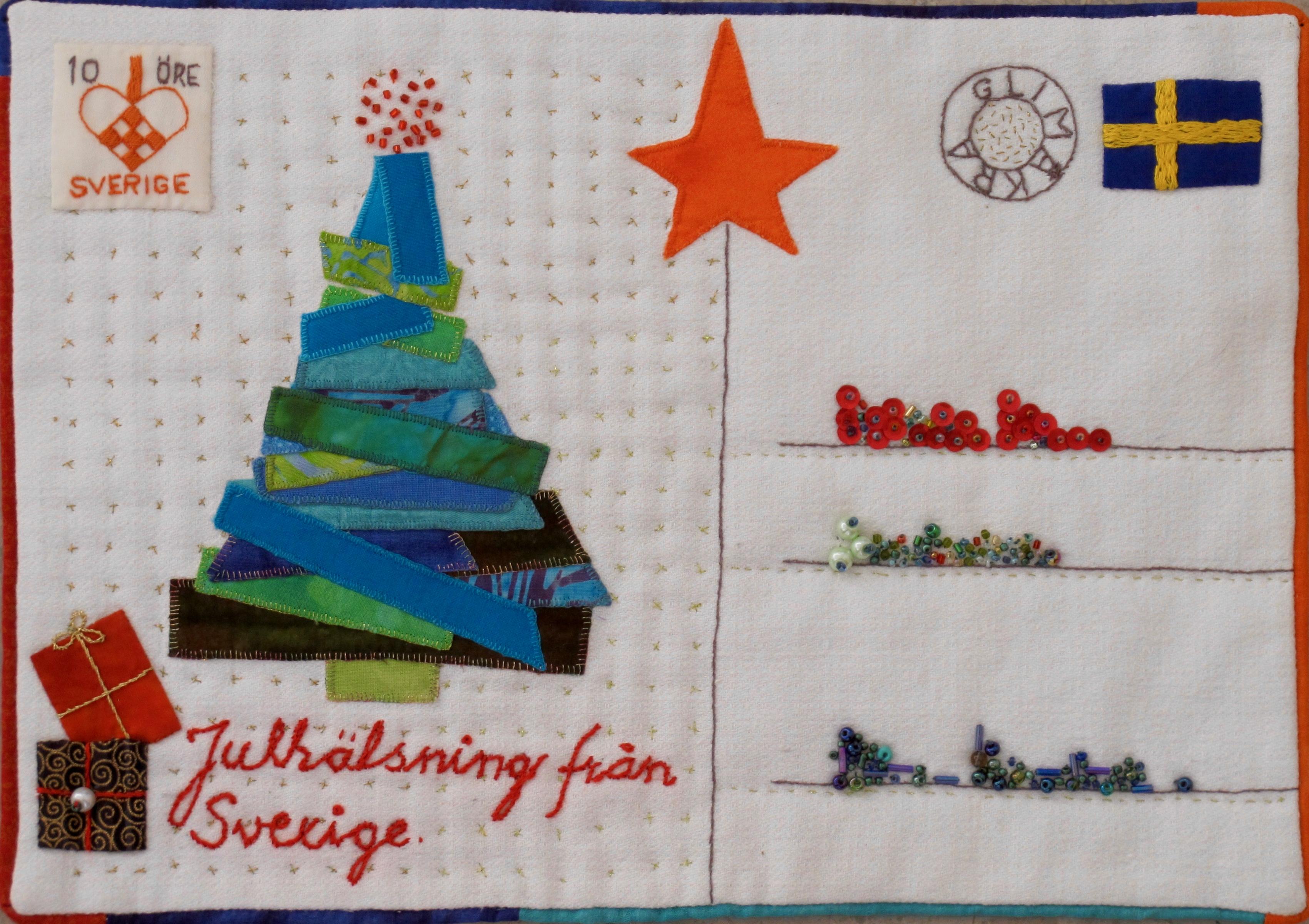 December Julhälsningar från Sverige Gullvi Wikström