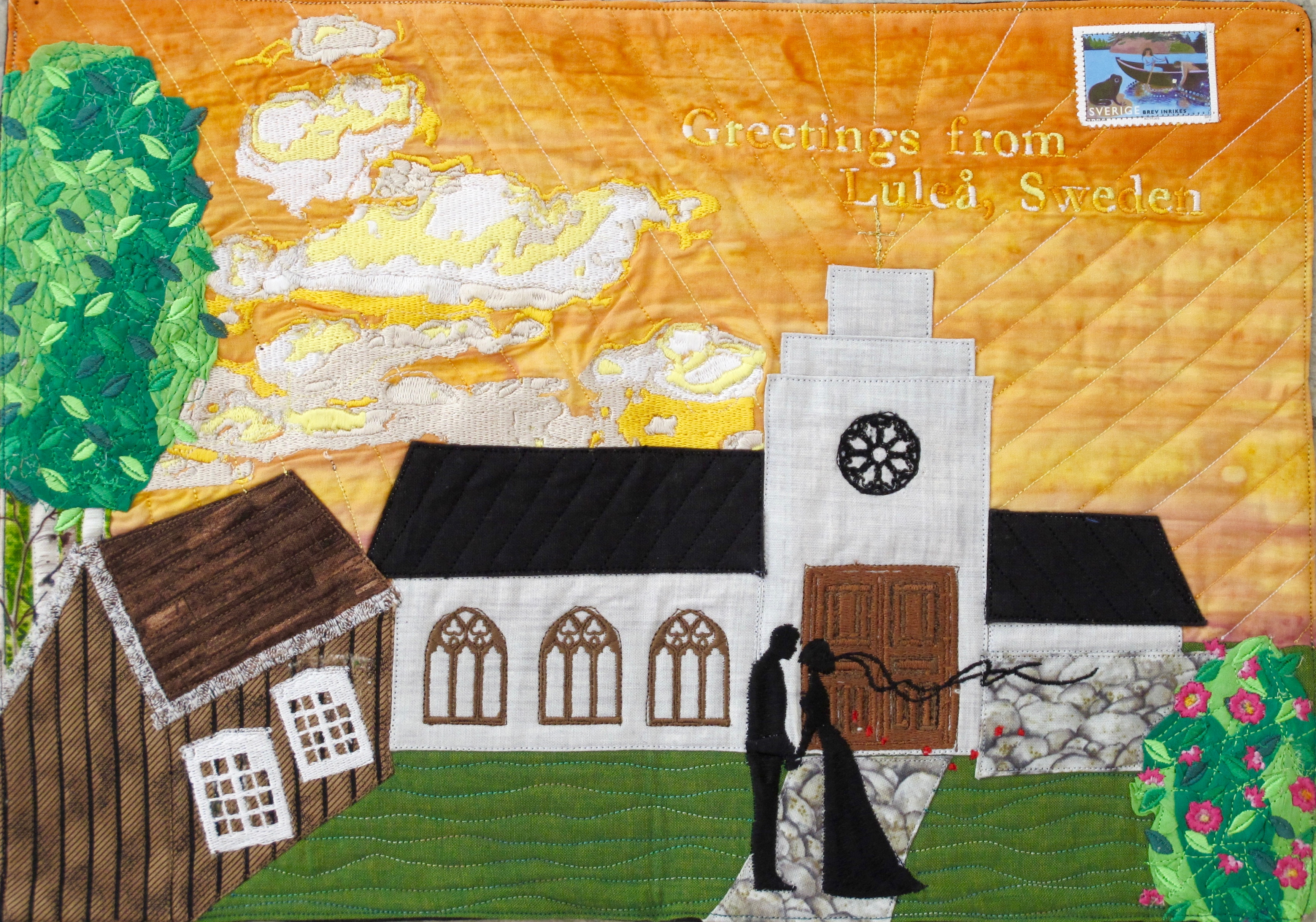Juli Mdnattsol över kyrkbyn Sari Lahtela
