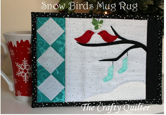 Muggmattor med vinterfåglar