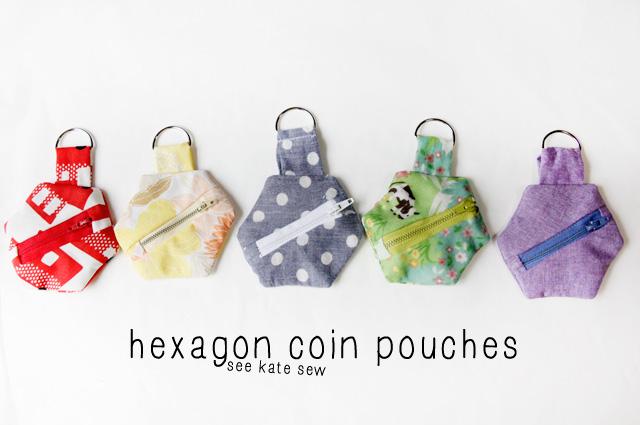 hexagon-coin-pouches
