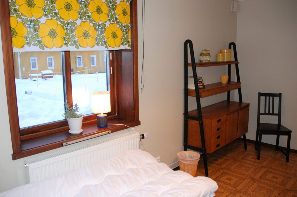 Ett av rummen på Storstrand